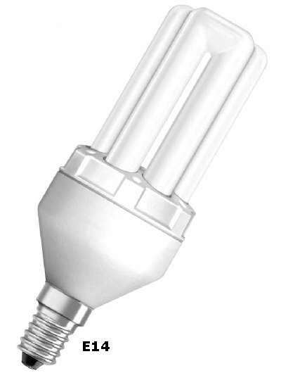 lampada basso consumo fluorescente attacco E14