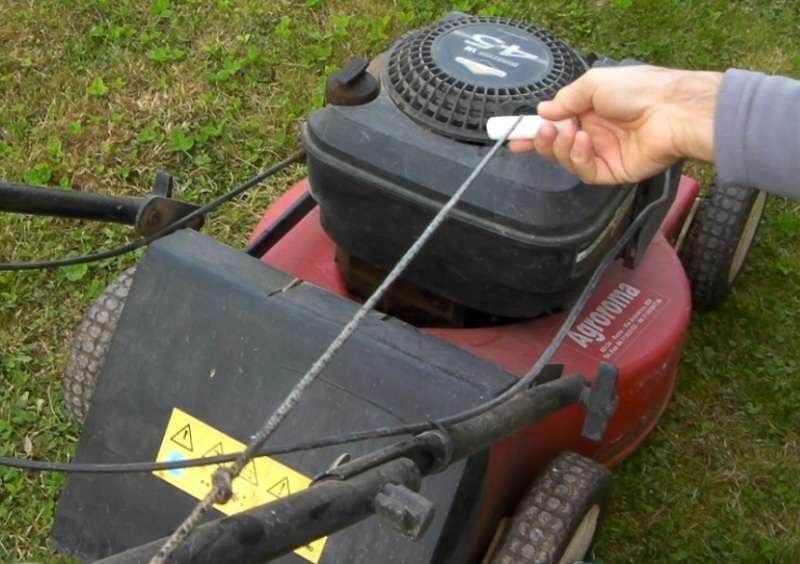 manutenzione corda avviamento a strappo