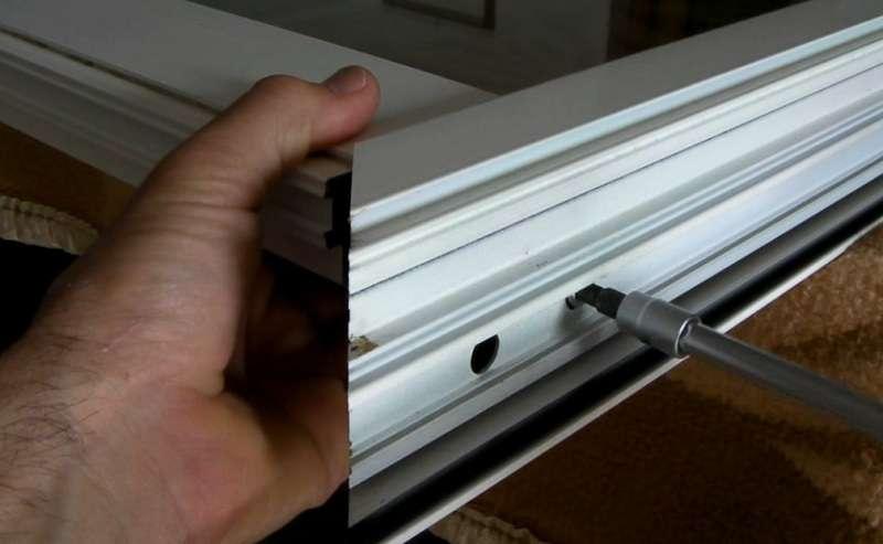 smontare finestra alluminio